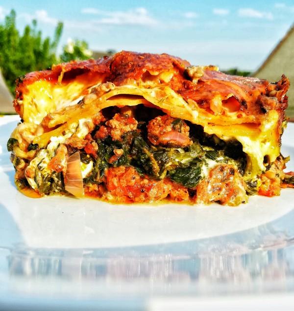 Spinat-Lasagne mit Hackfleisch