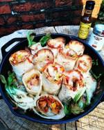 Wraps aus der Pfanne mit Pak Choi vom Grill...